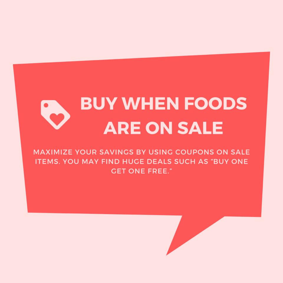 buy when foods are on sale