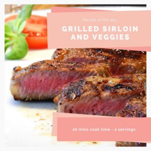 Grilled sirloin and veggies