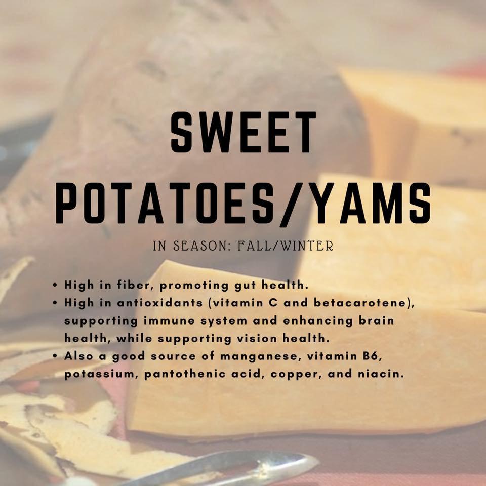 sweet potatos/yams